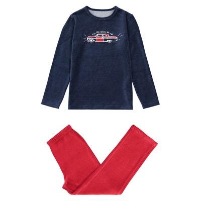 Velour Car Print Pyjamas, 3-12 Years Velour Car Print Pyjamas, 3-12 Years La Redoute Collections