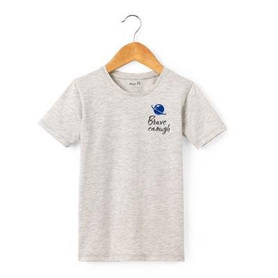 T-Shirt, Aufdruck hinten, 3-12 Jahre La Redoute Collections