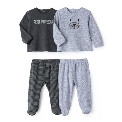 2-delige pyjama in katoen, set van 2, 0 mnd-3 jr 2-delige pyjama in katoen, set van 2, 0 mnd-3 jr La Redoute Collections