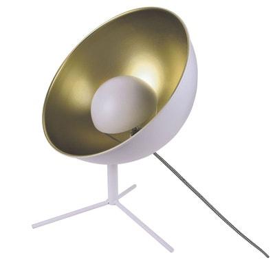 Lampe trépied en métal Cinéma - H. 45 cm - Blanc Lampe trépied en métal Cinéma - H. 45 cm - Blanc THE HOME DECO FACTORY