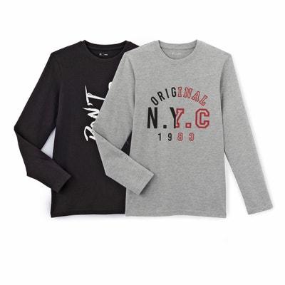 Lote de T-shirts com gola redonda, estampadas La Redoute Collections