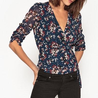 Bedruckte Bluse mit V-Ausschnitt MYA, lange Ärmel Bedruckte Bluse mit V-Ausschnitt MYA, lange Ärmel PETITE MENDIGOTE