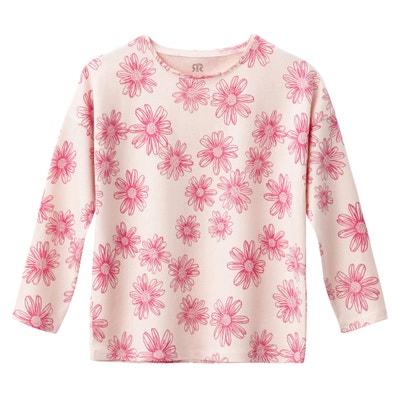 "T-shirt a maniche lunghe fantasia ""fiori"" da 3 a 12 anni La Redoute Collections"