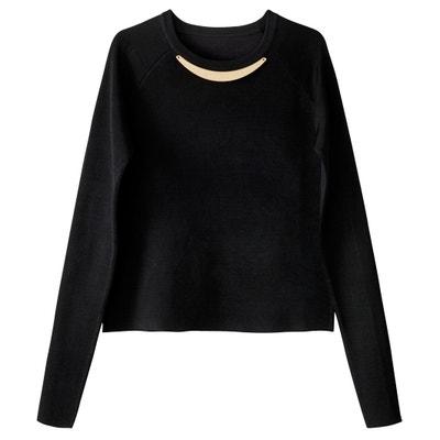 Pullover mit Rundhalsausschnitt und Schmuckverzierung Pullover mit Rundhalsausschnitt und Schmuckverzierung La Redoute Collections