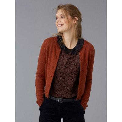 Cardigan femme tricot coton brillant, MIYAZU SOMEWHERE 5276fcdb84e7