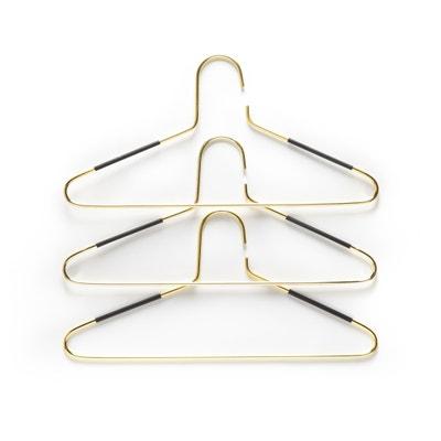 Confezione da 3 grucce in metallo color oro DRENIA Confezione da 3 grucce in metallo color oro DRENIA La Redoute Interieurs