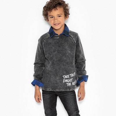 Sweatshirt mit Used-Effekt, 3-12 Jahre Sweatshirt mit Used-Effekt, 3-12 Jahre La Redoute Collections