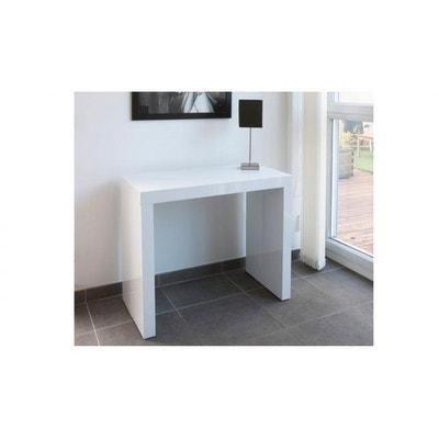 console extensible blanche 180cm laque marie line console extensible blanche 180cm laque marie line - Table Console Extensible Blanc Laque