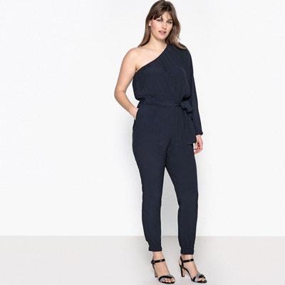 3f6f102f80cf9 Combinaison pantalon large haut asymétrique CASTALUNA