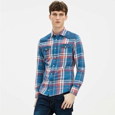 Gamix Checked Denim Shirt Gamix Checked Denim Shirt CELIO