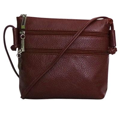 Petit sac bandouliere cuir prune CHAPEAU-TENDANCE