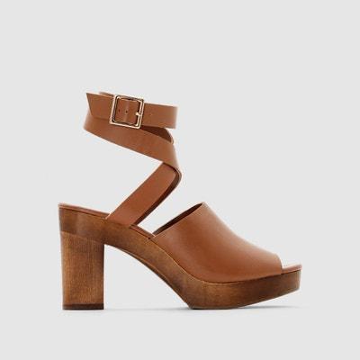 Sandales en cuir La Redoute Collections