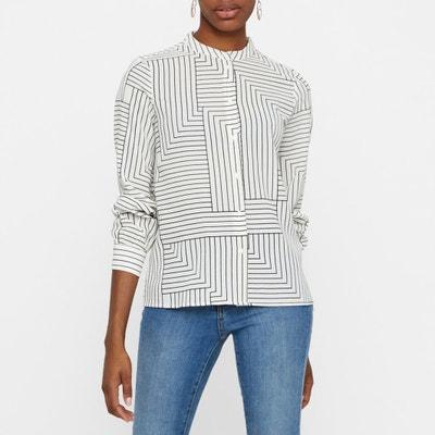 Bluse mit Stehkragen, grafischer Print, lange Ärmel Bluse mit Stehkragen, grafischer Print, lange Ärmel VERO MODA
