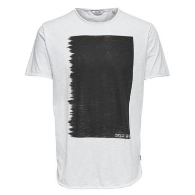 T-shirt met ronde hals en motief vooraan Onssamuel T-shirt met ronde hals en motief vooraan Onssamuel ONLY & SONS