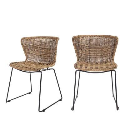 lot de chaises rsine tress wings drawer with chaise osier - Chaise En Osier