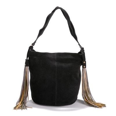 Handtasche, Beutelform, Pompons La Redoute Collections