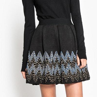 Embroidered Skater Skirt SEE U SOON