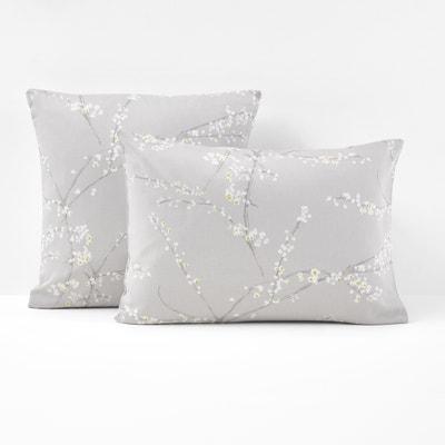 Natsumi Blossom Print Cotton Satin Pillowcase Natsumi Blossom Print Cotton Satin Pillowcase La Redoute Interieurs