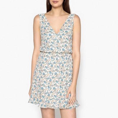 Limon Short Printed Wrapover Dress SAMSOE AND SAMSOE