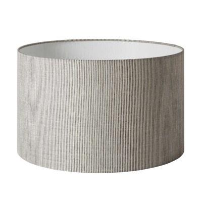 Abat-jour cylindrique Polyester HARRY Beige & Écru MADURA