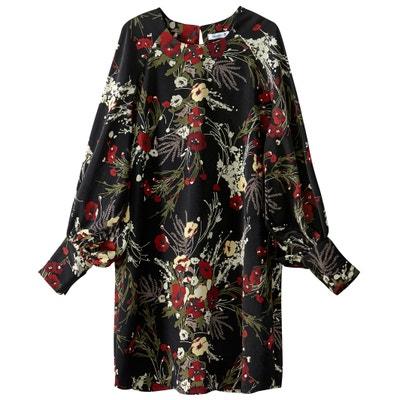 Vestido direito e curto, estampado floral Vestido direito e curto, estampado floral La Redoute Collections