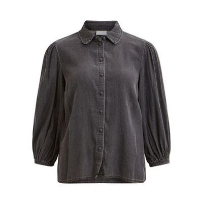 Peter Pan Collar Shirt with Puff Sleeves Peter Pan Collar Shirt with Puff Sleeves VILA