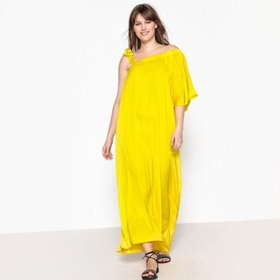 Lange wijde jurk met smalle bandjes Lange wijde jurk met smalle bandjes CASTALUNA
