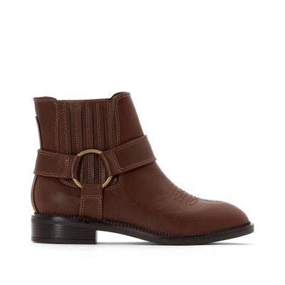 8f687b9a5aec8 Boots western à boucle dorée Boots western à boucle dorée LA REDOUTE  COLLECTIONS