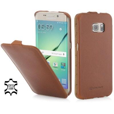 Etui Samsung Galaxy S6 Edge ultraslim cognac en cuir véritable - Stilgut  Etui Samsung Galaxy S6 6c2b84fddb5a