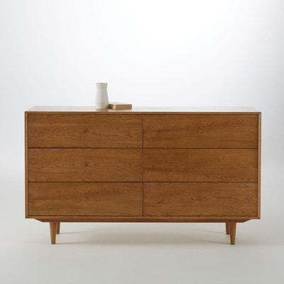 Commode vintage en chêne, 6 tiroirs, Quilda Commode vintage en chêne, 6 tiroirs, Quilda La Redoute Interieurs