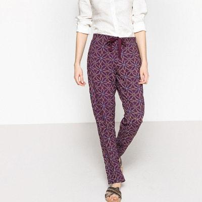 Pantalon fluide pyjama cordon à nouer La Redoute Collections