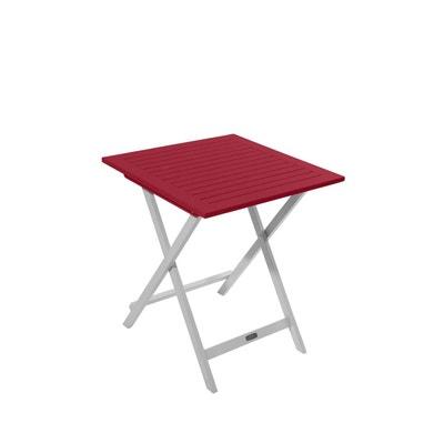 Table de jardin rouge en solde   La Redoute