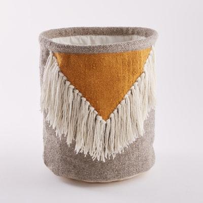 Koszyk kilimowy z frędzlami, Liklim Koszyk kilimowy z frędzlami, Liklim La Redoute Interieurs