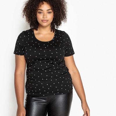 T-Shirt mit rundem Ausschnitt und Tupfenmuster T-Shirt mit rundem Ausschnitt und Tupfenmuster CASTALUNA