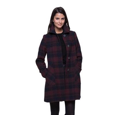 Manteau évasé en lainage à carreaux Manteau évasé en lainage à carreaux TRENCH AND COAT