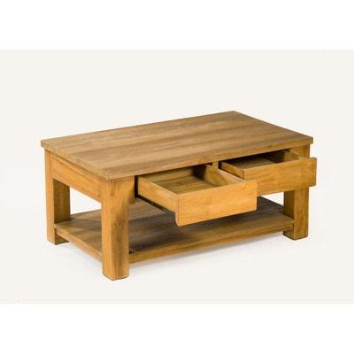 Table Basse En Teck Massif En Solde La Redoute