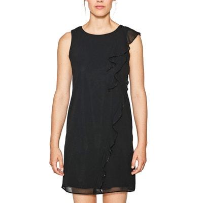 Kleid, gerade Form, uni, kurz, ärmellos ESPRIT