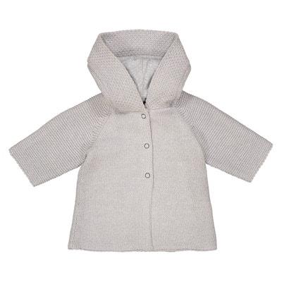 Chaqueta de punto tricot con capucha, 0 meses - 3 años La Redoute Collections