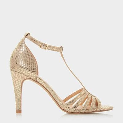 Sandales style salomé à talon aiguille mi-haut - MICHELE HEAD OVER HEELS BY  DUNE 391e563b5307