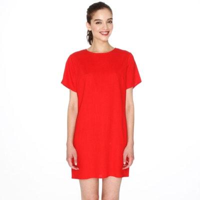 Rechte jurk met korte mouwen Rechte jurk met korte mouwen PEPALOVES