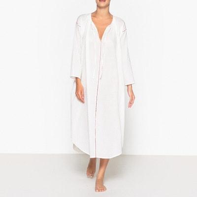 Langes, ausgestelltes Kleid aus Plumetis-Baumwolle FJORD Langes, ausgestelltes Kleid aus Plumetis-Baumwolle FJORD MES DEMOISELLES
