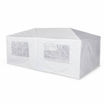 Tente de réception 3x6m Aginum toile blanche pergola barnum tonnelle chapiteau tente de jardin ALICE S GARDEN