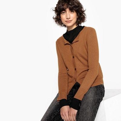 Gilet marron femme en solde   La Redoute 675ee50c1404