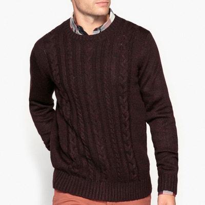 """Пуловер с круглым вырезом и рисунком """"косы"""" Пуловер с круглым вырезом и рисунком """"косы"""" La Redoute Collections"""