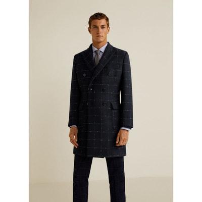 8124fc65443e1 Manteau carreaux laine MANGO MAN