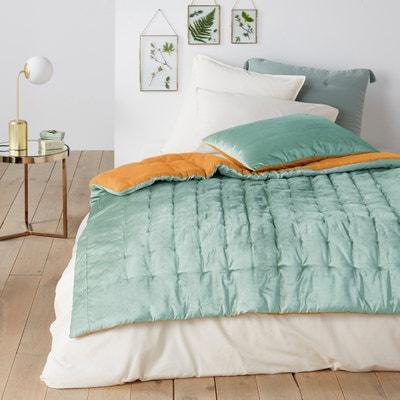 DAMYA  Reversible Quilted Velvet Comforter DAMYA  Reversible Quilted Velvet Comforter La Redoute Interieurs