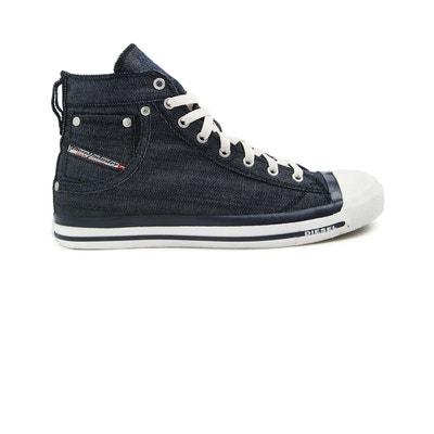 Sneakers montantes denim bleu Exposure pour homme Sneakers montantes denim  bleu Exposure pour homme DIESEL 3bf5298832cd