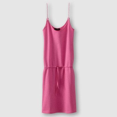 Vestido com alças finas entrançadas La Redoute Collections