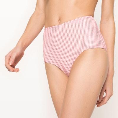 Gingham Print Bikini Bottoms Gingham Print Bikini Bottoms La Redoute Collections