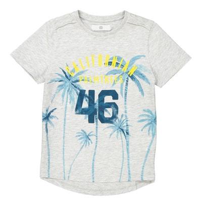 T-Shirt mit asymmetrischem Saum und Palmenmotiven, 3-12 Jahre La Redoute Collections